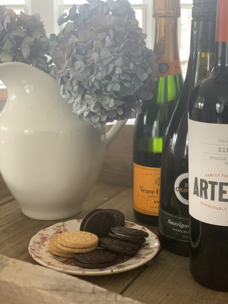 oreos and wine